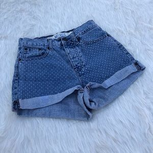 Brandi Melville polka dot denim short